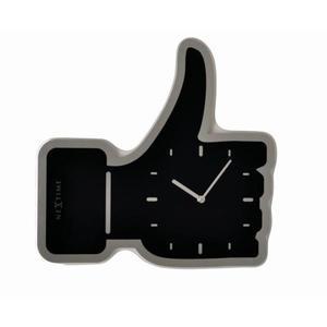 Nextime - zegar Thumbs Up czarny 41,4 cm x 40 cm - 2824448410