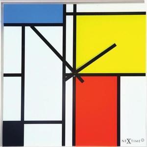 Nextime - zegar Time Lines 43 cm x 43 cm - 2824448425