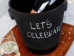 Magisso - Kubełek na szampana Black Terracotta - 2824449789