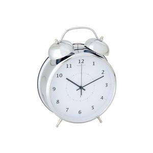 Nextime - budzik Wake Up srebrny duży - 2824445273
