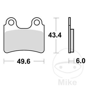 Klocki hamulcowe TRW Lucas MCB766 (2 szt.) do AJP PR3 125 Enduro, PR3 125 Enduro Pro, PR3 125 Supermoto, PR3 125 Supermoto Pro, PR3 200 MX, PR3 200 Enduro, PR3 200 Enduro Pro, PR3 200 MX PRO, PR3 200 Supermoto, PR3 200 Supermoto Pro, PR4 125 Enduro, PR4 1 - 2861250381