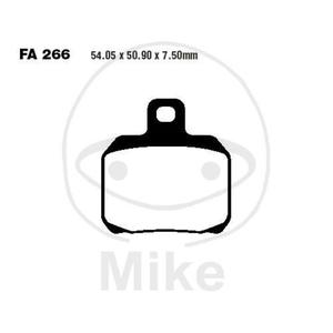Klocki hamulcowe przód/tył EBC SFA266 (komplet 2 szt.) do CPI GTR 50 LC / Derbi GP1 50 V1 LC Napęd łańcuchowy, GP1 50 V2 LC Napęd łańcuchowy, GP1 125, GP1 250 Nexus 500 / Malaguti Madison 125 R (3), Madison 3 250 ie, Spidermax 500 GT ie, Spidermax 500 RS - 2857924887
