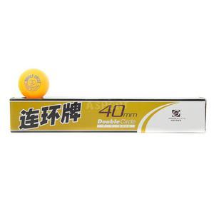 Piłeczki do tenisa stołowego DOUBLE CIRCLE 6szt. żółte Meteor