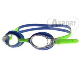 Okulary pływackie dziecięce AMARI niebiesko-zielone Aqua-Speed - 2824064702