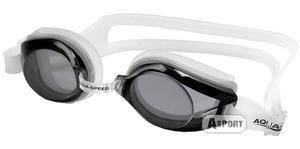 Okulary pływackie, młodzieżowe AVANTI biało-czarne Aqua-Speed - 2824064705
