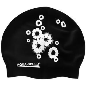 Czepek z silikonu FLOWER czarny Aqua-Speed - 2824065081