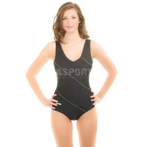 Strój kąpielowy jednoczęściowy SOPHIE Aqua-Speed Rozmiar: 38 Kolor: czarno-zielony - 2824065949