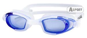 Okulary pływackie dziecięce MAREA JR biało-niebieskie Aqua-Speed - 2824066623