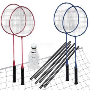 Zestaw do badmintona: 4 rakiety + lotki + siatka + stelaż FUN START Spokey - 2849794524