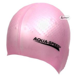 Czepek z silikonu z masażem BIOMASSAGE NEW różowy Aqua-Speed - 2824067492