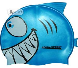 Czepek dziecięcy z nadrukiem SHARK rekin Aqua-Speed - 2824067524