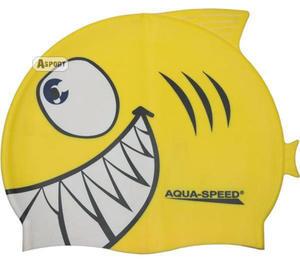 Czepek dziecięcy z nadrukiem SHARK rekin Aqua-Speed - 2824067525