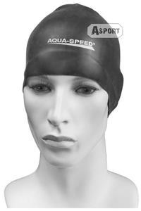 Czepek pływacki, silikonowy RACER czarny Aqua-Speed - 2824067897
