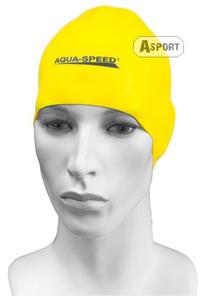 Czepek pływacki, silikonowy RACER żółty Aqua-Speed - 2824067899