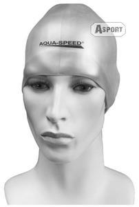 Czepek pływacki, silikonowy RACER srebrny Aqua-Speed - 2824067900