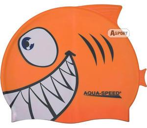 Czepek dziecięcy z nadrukiem SHARK rekin Aqua-Speed - 2824067905