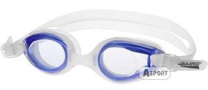 Okulary pływackie dziecięce ARIADNA biało-niebieskie Aqua-Speed - 2824068156