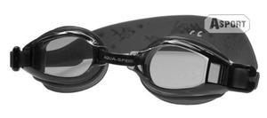 Okulary pływackie dziecięce ACCENT czarne Aqua-Speed - 2824068176
