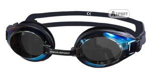 Okulary pływackie lustrzanki CHALLENGE czarne Aqua-Speed - 2824068194