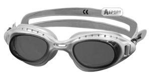 Okulary pływackie MATRIX srebrne Aqua-Speed - 2824068217