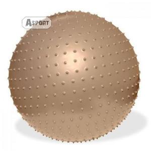 Piłka gimnastyczna, do masażu 65 cm FITNESS z pompką Meteor - 2836905779