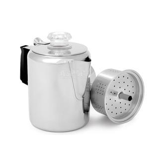 Kawiarka turystyczna, zaparzacz do kawy, 3 porcje, stal nierdzewna GSI - 2846799376