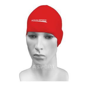 Czepek pływacki, silikonowy RACER czerwony Aqua-Speed - 2824072640
