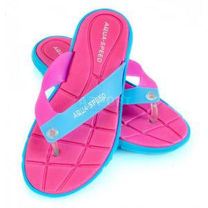 Klapki damskie, na basen, na plażę BALI różowy / niebieski Aqua-Speed Rozmiar: 37 - 2824074619
