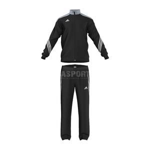 Dres sportowy, treningowy, męski: bluza + spodnie SERENO 14 Adidas Rozmiar: S Kolor: czarny - 2835843087