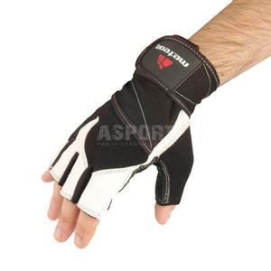 Rękawiczki treningowe, kulturystyczne, skóra naturalna 35% GRIP 100 Meteor Rozmiar: L - 2824076595