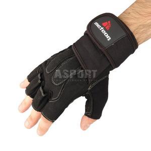 Rękawiczki treningowe, kulturystyczne, skóra syntetyczna GRIP 60 Meteor Rozmiar: L - 2824076615