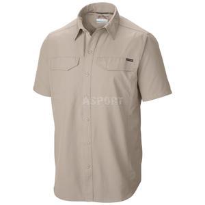 Koszula męska, szybkoschnąca, filtr UPF 30, krótki rękaw Columbia Rozmiar: M Kolor: brązowy - 2824078330