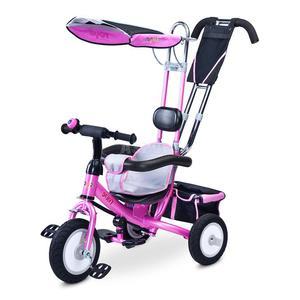 Rowerek dziecięcy, 3-kołowy, daszek, rączka do sterowania DERBY 2015 Toyz