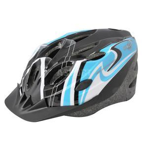 Kask ochronny, rowerowy, na rolki, z daszkiem COOPER BLACK/BLUE Axer Rozmiar: 58-61 - 2824079459