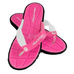 Klapki damskie, na basen, na plażę BALI różowo-czarne Aqua-Speed Rozmiar: 41 - 2824079526