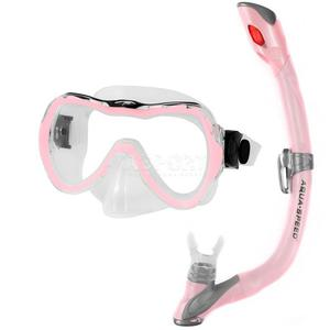 Fajka + maska nurkowa dla dzieci ENZO + EVO różowa Aqua-Speed - 2836485615