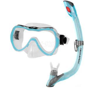 Fajka + maska nurkowa dla dzieci ENZO + EVO jasnoniebieska Aqua-Speed - 2836485616