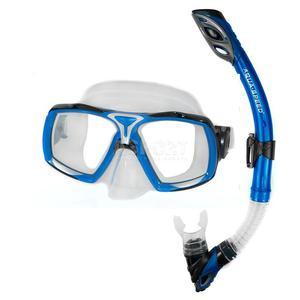 Maska + fajka nurkowa ELEA + RIO niebieska Aqua-Speed - 2824081317