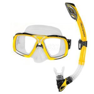 Maska + fajka nurkowa ELEA + RIO żółta Aqua-Speed - 2824081318