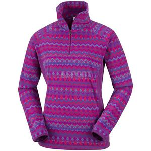 Bluza polarowa, damska GLACIAL III PRINT Columbia Rozmiar: L Kolor: fioletowo-niebieski