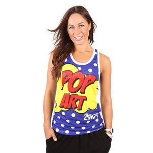 Koszulka, bokserka damska, na fitness, do tańca, na zumbę POP ART 2skin Rozmiar: M Kolor: multikolor - 2824081887