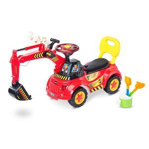 Jeździk / pchacz z koparką + zestaw do zabawy w piaskownicy SCOOP Toyz - 2848879572