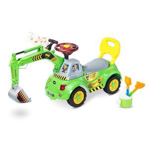 Jeździk / pchacz z koparką + zestaw do zabawy w piaskownicy SCOOP Toyz