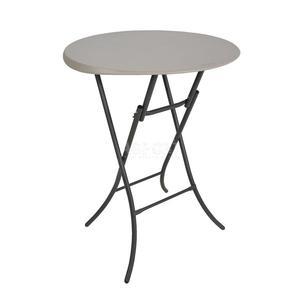 Stół składany, okrągły, półkomercyjny 83.8cm Bistro migdałowy Lifetime - 2834629146