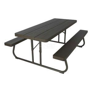 Zestaw piknikowy: stół piknikowy + 2ławki, dla 8 osób, 183cm czarny Lifetime - 2847255446