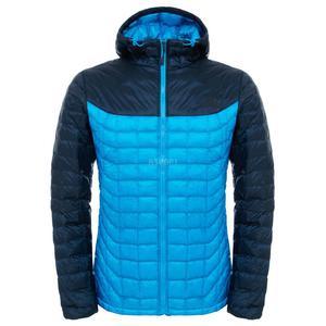 Kurtka zimowa, męska, ocieplana, z kapturem THERMOBALL The North Face Rozmiar: XXL Kolor: niebiesko-granatowy - 2840732467