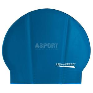Czepek pływacki z lateksu SOFT LATEX niebieski Aqua-Speed - 2824083197
