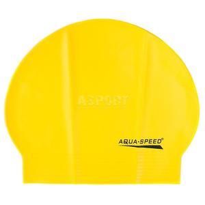 Czepek pływacki z lateksu SOFT LATEX żółty Aqua-Speed - 2824083204