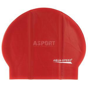 Czepek pływacki z lateksu SOFT LATEX czerwony Aqua-Speed - 2824083205