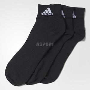 Skarpety sportowe, uniwersalne, stopki 3pary czarne Adidas Rozmiar: 35-38 - 2824084761